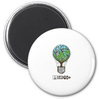 Earth Hour 6 Cm Round Magnet