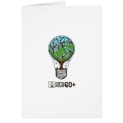 Earth Hour Greeting Card