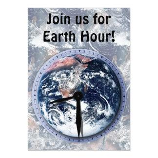Earth Hour Clock 8:30pm 13 Cm X 18 Cm Invitation Card