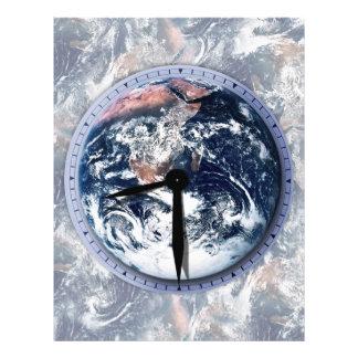 Earth Hour Clock 8:30pm 21.5 Cm X 28 Cm Flyer