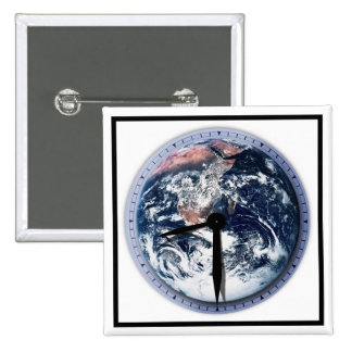 Earth Hour Clock 8 30pm Pinback Buttons