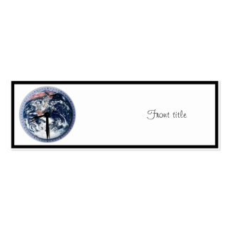Earth Hour Clock 8:30pm Pack Of Skinny Business Cards