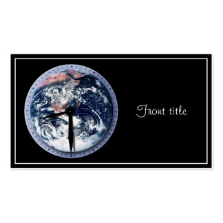 Earth Hour Clock 8:30pm Pack Of Standard Business Cards