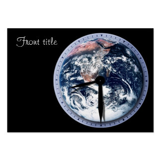 Earth Hour Clock 8:30pm Business Card Templates