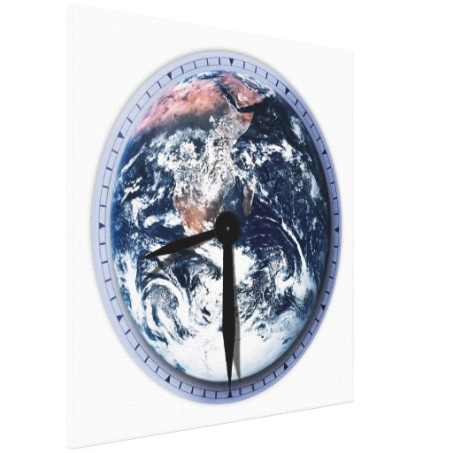 Earth Hour Clock 8:30pm Gallery Wrap Canvas
