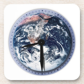 Earth Hour Clock 8:30pm Drink Coasters