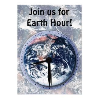 Earth Hour Clock 8:30pm Invite
