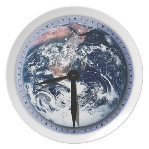 Earth Hour Clock 8:30pm Party Plate