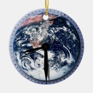 Earth Hour Clock 8:30pm Round Ceramic Decoration