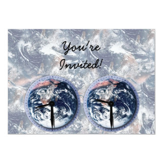 Earth Hour Clocks 830-930 13 Cm X 18 Cm Invitation Card
