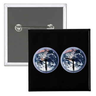 Earth Hour Clocks 830-930 Pinback Buttons
