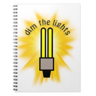 Earth Hour - Dim The Lights - 2u Light Bulb Spiral Note Books