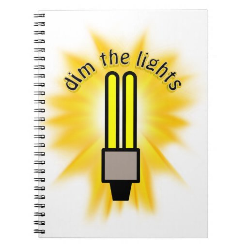 Earth Hour - Dim The Lights - 2u Light Bulb Spiral Note Books