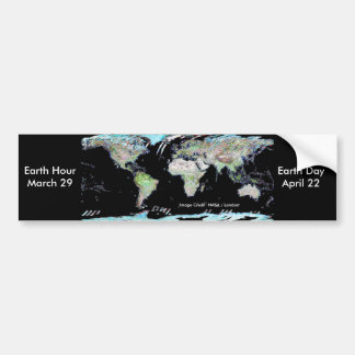 Earth Hour / Earth Day Car Bumper Sticker