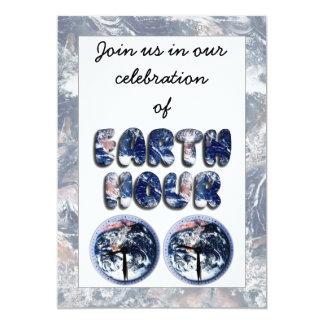 Earth Hour (Earth Text W/Clocks[2]) Invitations