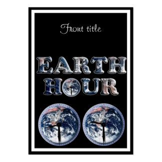 Earth Hour -  Earth Text w/Clocks 830-930 Pack Of Chubby Business Cards