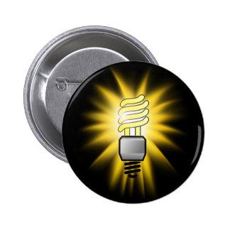 Earth Hour - Energy Saver Light Bulb 6 Cm Round Badge