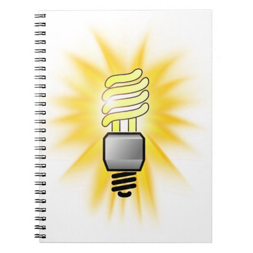 Earth Hour - Energy Saver Light Bulb Spiral Note Book