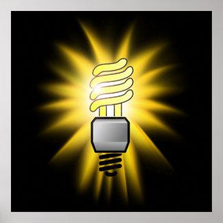 Earth Hour - Energy Saver Light Bulb Poster