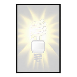 Earth Hour - Energy Saver Light Bulb Stationery Design