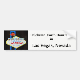 Earth Hour in Las Vegas Bumper Sticker