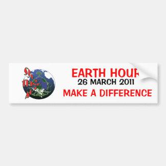 Earth Hour March Bumper Sticker