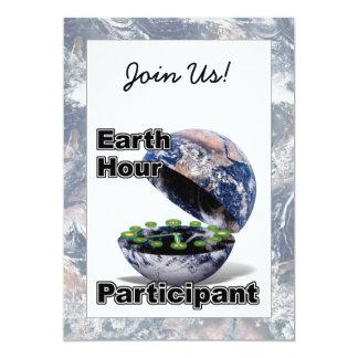 Earth Hour Participant 13 Cm X 18 Cm Invitation Card