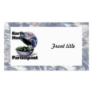 Earth Hour Participant Pack Of Standard Business Cards