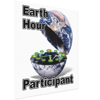 Earth Hour Participant Gallery Wrap Canvas