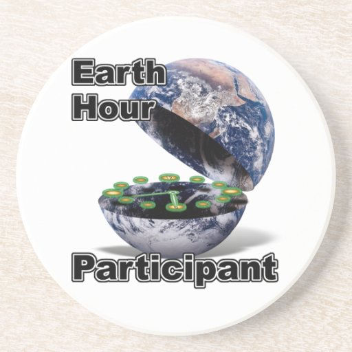 Earth Hour Participant Beverage Coaster