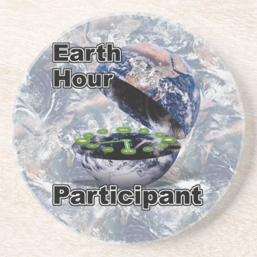 Earth Hour Participant Drink Coaster
