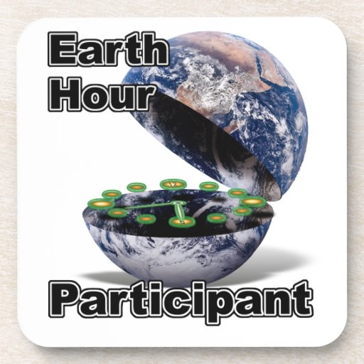 Earth Hour Participant Coasters