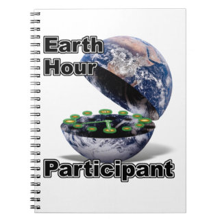 Earth Hour Participant Spiral Note Book