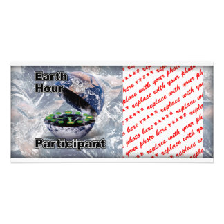 Earth Hour Participant Photo Card Template