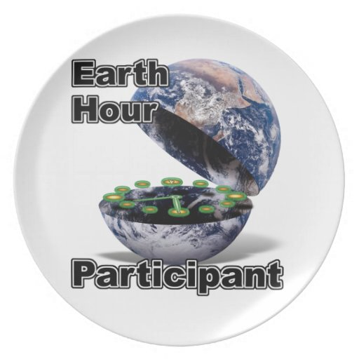Earth Hour Participant Party Plates