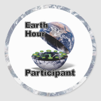Earth Hour Participant Round Sticker