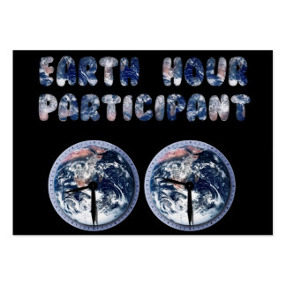 Earth Hour Participant (w/Clocks) Pack Of Chubby Business Cards