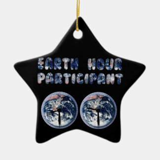 Earth Hour Participant (w/Clocks) Christmas Ornaments