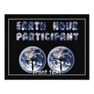 Earth Hour Participant (w/Clocks) Personalized Invitation