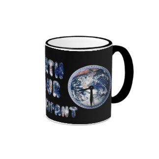 Earth Hour Participant (w/Clocks) Ringer Mug