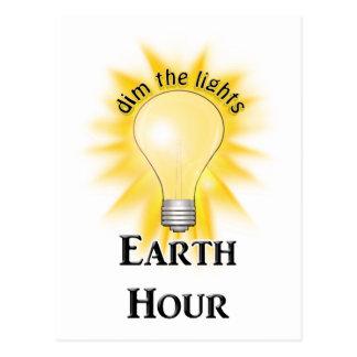 Earth Hour Postcard