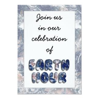 Earth Hour Text Image 13 Cm X 18 Cm Invitation Card