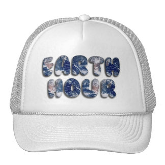 Earth Hour Text Image Hat