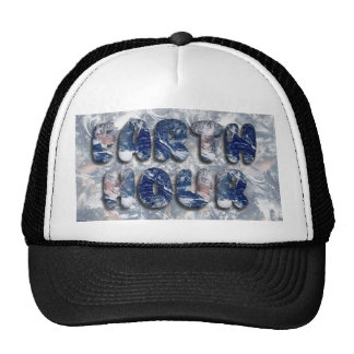 Earth Hour Text Image Trucker Hats