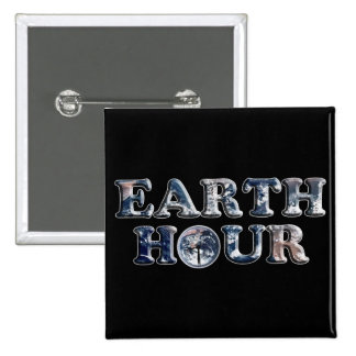 Earth Hour Text w Earth Clock Pin