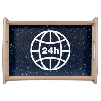 Earth Hours Minimal Serving Tray