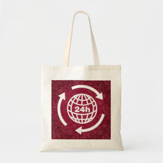 Earth Hours Pictograph Budget Tote Bag