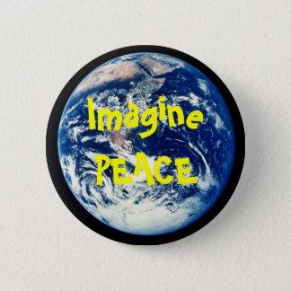 earth, ImaginePEACE 6 Cm Round Badge