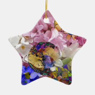 Earth in a New life Ceramic Star Decoration