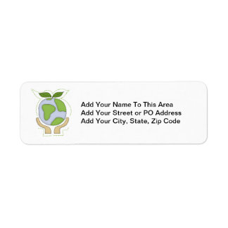 Earth In Our Hands T-shirts and Gifts Return Address Label